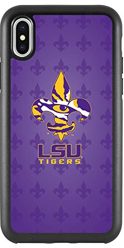- LSU Tigers Fleur De Lis Design on Black iPhone X Guardian Case from Fanmade and Coveroo