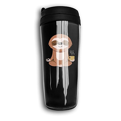 Waterhake Coffee Mugs, Yoga Sloth Coffee Black, Iced Espresso Small Coffee Mug Coffee Tumbler For Kids Teens Adults