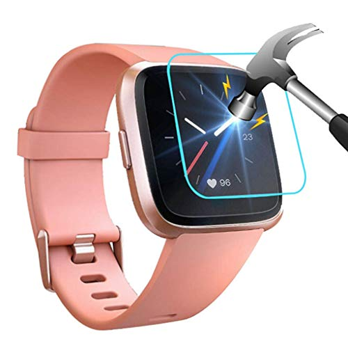 Hot Sale! Cyhulu New Fashion 3Pack Tempered Glass Screen Film Protector Accessories for Fitbit Versa/Versa Lite Smart Watch by Cyhulu (Image #5)
