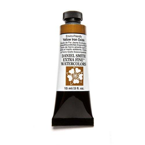 DANIEL SMITH Extra Fine Watercolor 15ml Paint Tube, Enviro-Friendly, Yellow Iron Oxide
