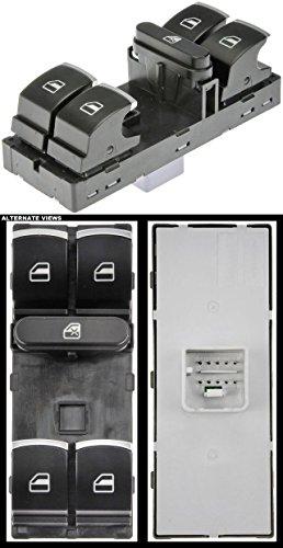 APDTY 012682 Power Window Switch With Chrome Tips Fits Front Left 4-Door 2009-2015 VW CC 2010-2014 Golf 2006-2014 GTI 2005-2015 Jetta 2006-2015 Passat & CC 2009-2015 Tiguan (Replaces 5K4959857XSH) Chrome Power Window Switch