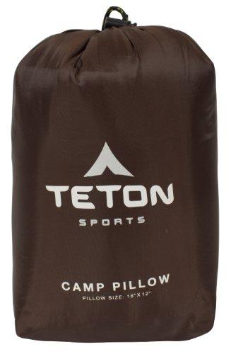 41rWKZ TETON Sports Camp-Kissen; ideal für Reisen, Camping und Rucksackreisen; waschbar,