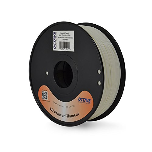 Octave White ABS Filament for 3D Printers - 1.75mm 1kg Spool Octave Supplies