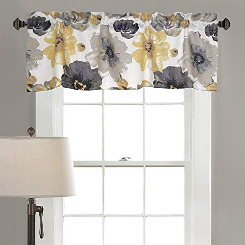 Jody Clarke Matched Blackout Valance Window Drape Flower Pattern Energy Saver with Rod Pocket 52
