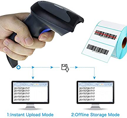 1D Bar Code CCD POS USB Bar Scanner Wireless with USB Receiver 2 4