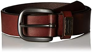 Levi's Men's 100% Leather Belt with Prong Buckle, Brown, 32