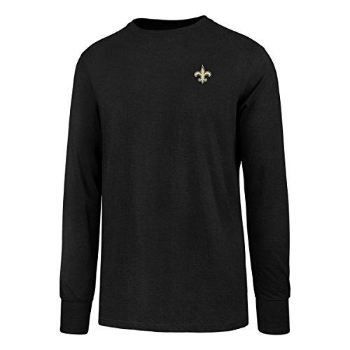 New Orleans Saints Soft Football (NFL New Orleans Saints Men's OTS Rival Long Sleeve LCCB Tee, Jet Black, X-Large)