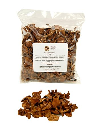 Dried Candy Cap Mushrooms - 4 Oz. Bag - Dehydrated Edible Gourmet Lactarius Rubidus Fungi