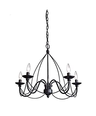 Artcraft Lighting AC1485AW Wrought Iron 5 Light Chandelier,Antique White