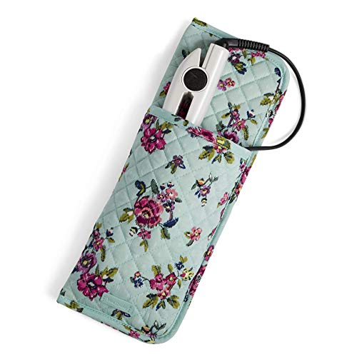 Vera Bradley Iconic Curling & Flat Iron Cover, Signature Cotton, Water Bouquet ()