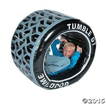 Inflatable Tumble Tire Roller [並行輸入品]   B07DWLNLRL