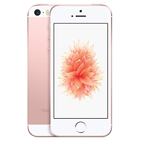 Apple iPhone SE, GSM Unlocked Phone, 16GB - Rose Gold (Renewed)