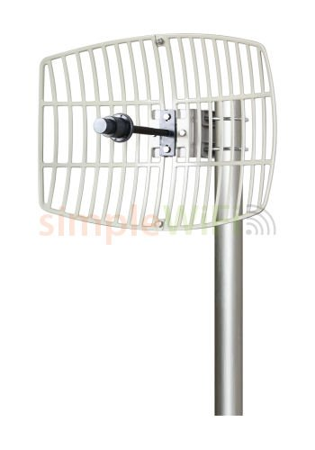 Antenna World G5724 24 Dbi Parabolic Grid Directional Antenna, 802.11ac, 5.72-5.85ghz ()