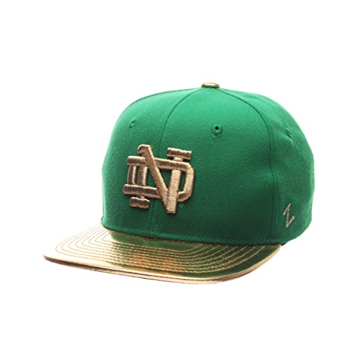 NCAA Notre Dame Fighting Irish Youth Flash 5 Snapback Hat, Kelly/Gold, Adjustable