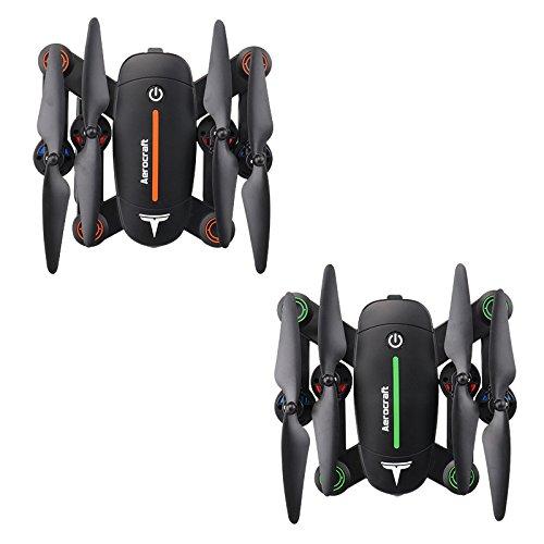 f16折りたたみ式WiFiドローンby品質Tech Imports、LLC F16W B077QLKD8Yオレンジ&ブラック