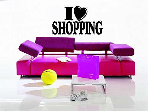 Shopping Mall Fashion Style Trends Fancy Dress Clothing Accessories Makeup Wall Sticker Decal - Mall Cristina