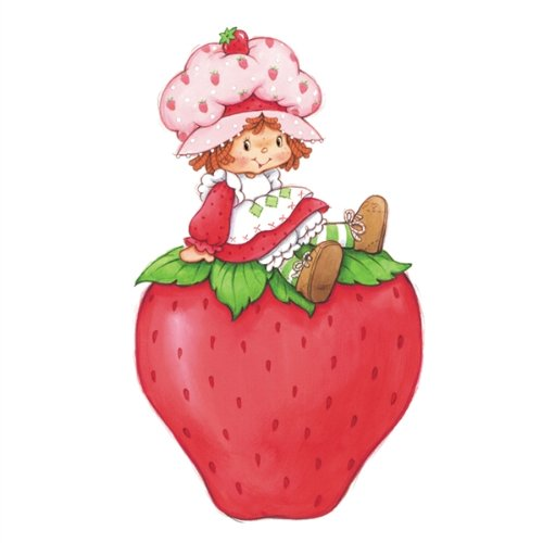 Walls 360 Peel & Stick Wall Decals: Strawberry Shortcake & Giant Strawberry (Strawberry Shortcake Wall Stickers)