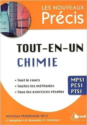 Livres gratuits en ligne Tout-en-un chimie MPSI-PCSI-PTSI pdf