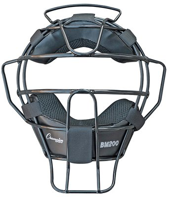 Champion Sports Lightweight Umpire Face Mask, Black