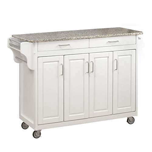 kitchen carts with granite top - 5