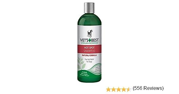 Vets Best Champú para el Alivio de la Picazón del Perro | Alivia la piel seca del perro, la erupción, rasguño, lamer, la piel con picazón y puntos calientes. Sin picaduras y