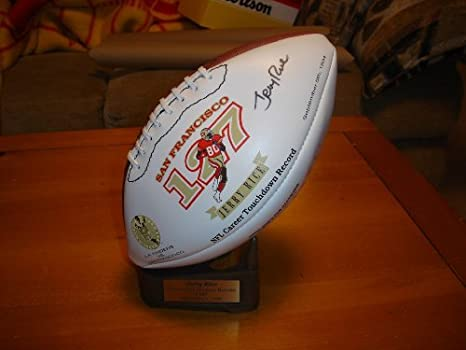 Image Unavailable. Image not available for. Color  Autographed Jerry Rice  San Francisco 49ers Signature Wilson Football ... d21b22392