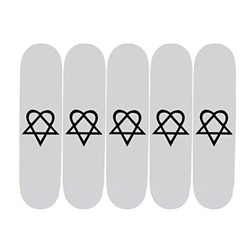 5 Heartagram Blank Skateboard Decks 7.5 Deck + Proグリップ B06XJ7YMCG
