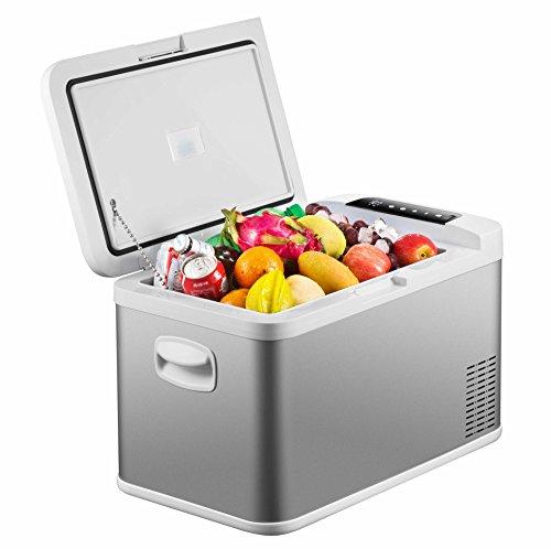 Ausranvik 26-Quart Portable Freezer car Refrigerator car Freezer – 12V/24V DC AC 110V