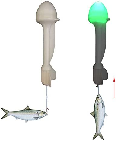 Automatic Fishing Bobbers Float Bite Fishing Tackle Steel Stainless Hook E6Z9