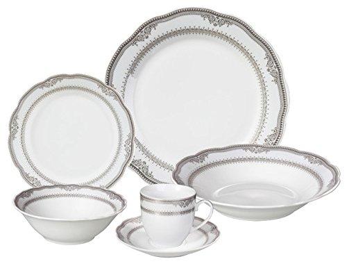 Porcelain Wavy Edge Dinnerware Set, 24 Piece Service for 4 by Lorren Home Trends: Victoria Design