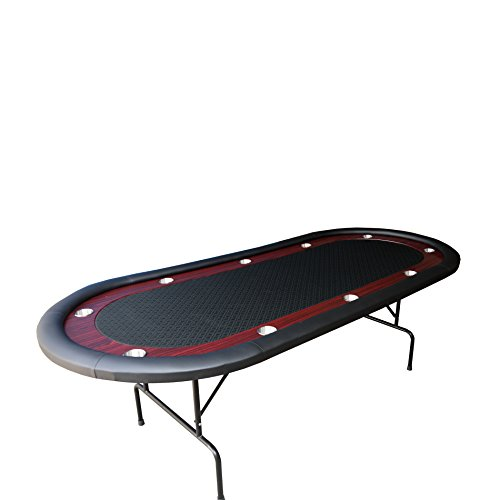 Ids texas hold em poker table 10 players with wooden for 10 player folding poker table