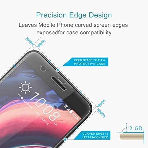 JIANGNIUS Screen Protectors 100 PCS 0.26mm 9H 2.5D Tempered Glass Film for HTC One X10