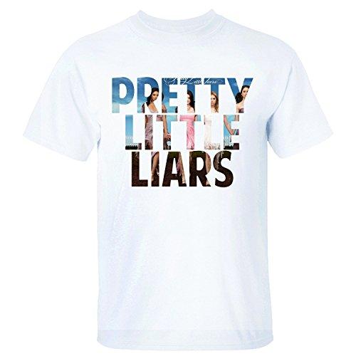 XTOTO Men's Pretty Little Liars Cool T-shirts white L for $<!---->