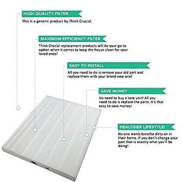 6300 5500 9000 5000b Crucial Air Carbon Filter Replacement Parts Compatible with Winix Part # 115115 5300 4 Pack Fits Models 5000 WAC5300 Think Crucial WAC5500 Capture Debris,Pollen,Particles WAC6300