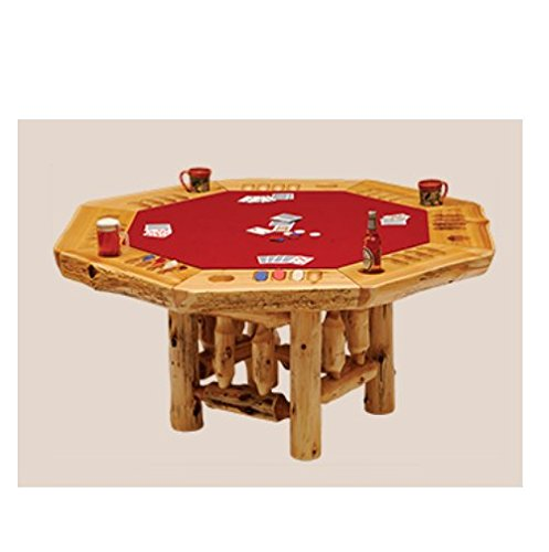 8 Sided Cedar Poker Table Real High Quality Wood Western Lodge Rustic Cabin