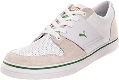 PUMA Men's El Ace 2 Nubuck Leather Sneaker,White/Pale Gold/Mint Green,8 D US