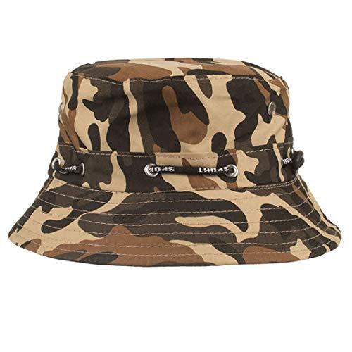 Men Women Cotton Bucket Hat Summer Camouflage Sun Hat Fishing Climbing Outdoor Cap Fashion Visors for Travel Vacation