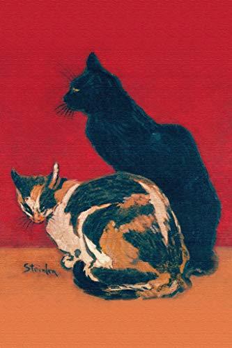 ArtParisienne Two Cats Théophile Steinlen 12x18-inch Canvas Print