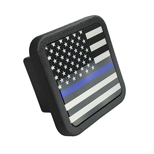 Lowest Price! Free exercise Trailer Hitch Cover tube Plug Insert (Fits 2 Receivers, Thin Blue Line)