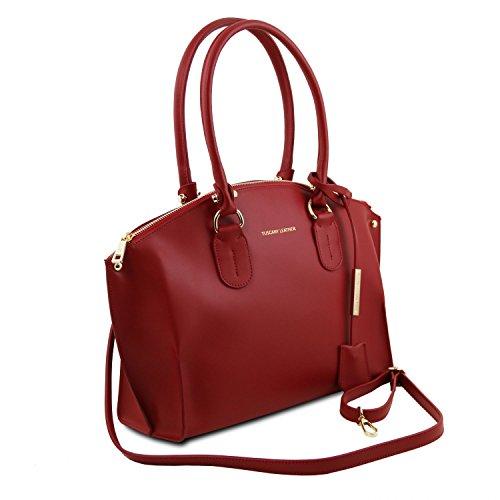 Tuscany Leather Diana Borsa shopper in pelle Avorio Rosso