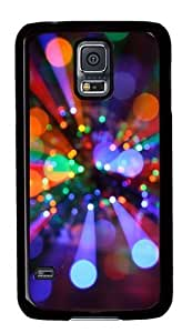 Rosesea Custom Personalized Christmas lights PC Hard Plastic Case for Samsung S5/Samsung Galaxy S5