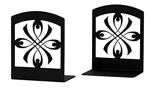 (Iron Ribbon Bookends -Set of 2-Heavy Duty Metal Bookends)