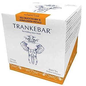 Trankebar Black Tea Herbal Infusion (Sea Buckthorn & Sunflower Petals, 1 pack of 15 tea bags) Premium Specialty Tea Made With Quality Ingredients 119