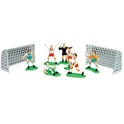 A1BakerySupplies Cake Decorating Kit CupCake Decorating Kit (Soccer Team(7 Players 2 Goals)): Grocery & Gourmet Food