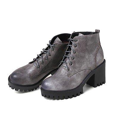RTRY Zapatos De Mujer Invierno Materiales Personalizados Novedad Tobillo Cowboy Western / Botas Botas De Nieve Botas De Montar Botas De Moda Botas De Combate US7.5 / EU38 / UK5.5 / CN38