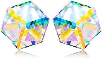 """♥Weihnachtsgeschenke♥ NINASUN """"Kaleidoskop"""" 925 Sterling Silber Schmuck für Damen mit Aurore Boreale SWAROVSKI® Kristalle und Geschenkbox, Allergenfrei"""