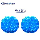 GoBroBrand Bubble Bumper Balls 2 pack of Inflatable Buddy hamster Bbop Ball set - Used also as Giga Sumo Wearable human zorb soccer Suits for outdoor play. Size: 36' For Kids & Adults of all ages