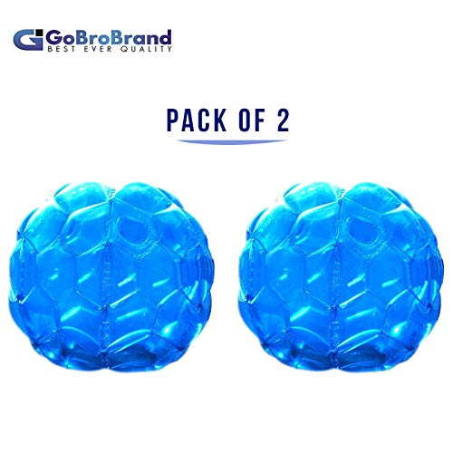 (GoBroBrand Bubble Bumper Balls 2 pack of Inflatable Buddy hamster Bbop Ball set - Used also as Giga Sumo Wearable human zorb soccer Suits for outdoor play. Size: 36