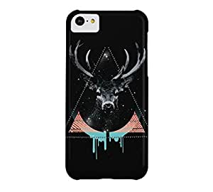 The Blue Deer iPhone 5c Black Barely There Phone Case - Design By Humans