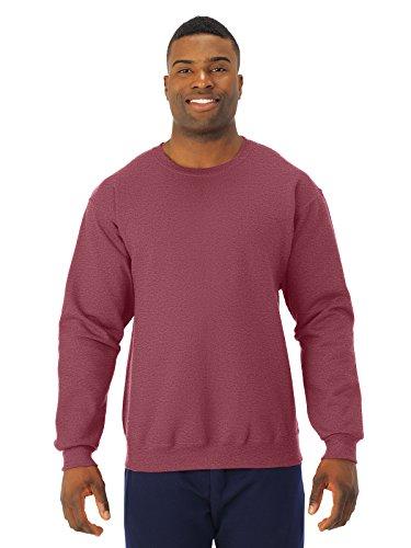 (Jerzees Men's NuBlend Crew Neck Sweatshirt, Vintage Heather Red, XXXX-Large)